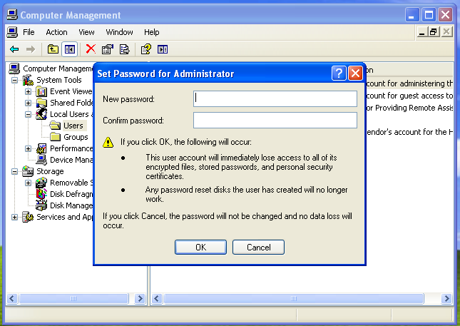 hack windows xp password without any programs